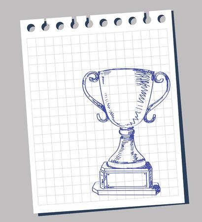 doodle trophy Stock Vector - 11813608