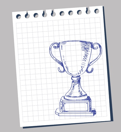 a collection of awards icon: doodle trophy