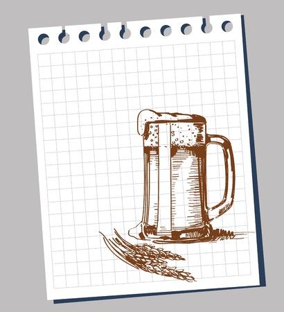 hand draw: Scribble beer mug