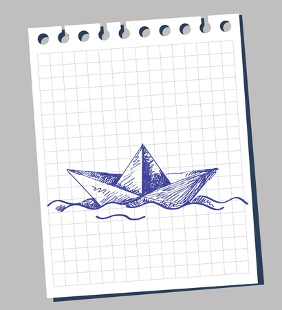 group travel: paper boat