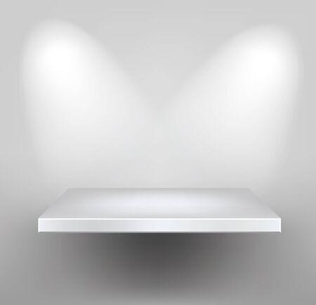 white shelf Stock Vector - 11917294