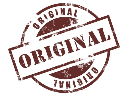 originales: Grunge sello de goma