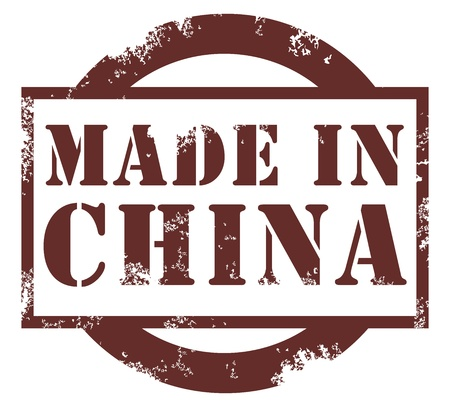 quality stamp: made in China Illustration