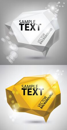 bubbles for text Vector