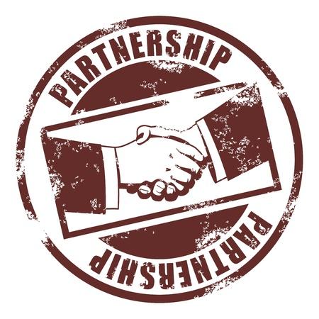 Partnerschap stempel Vector Illustratie