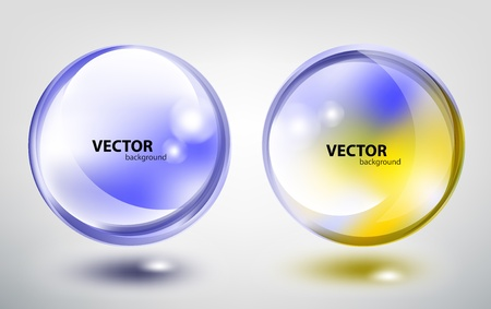 Colored transparent sphere Vector