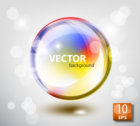 Colored transparent sphere Stock Vector - 11917333