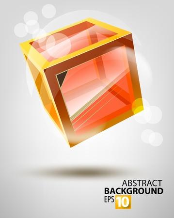 Vector glass cube Vector