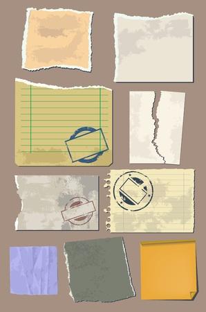 cartone strappato: Vector inserire la carta d'epoca Vettoriali
