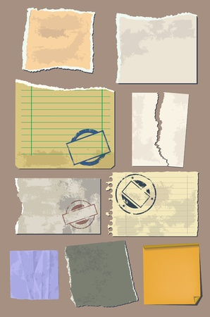 notebook paper background: Vector set vintage paper