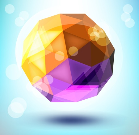 3d polygonal shape Vector