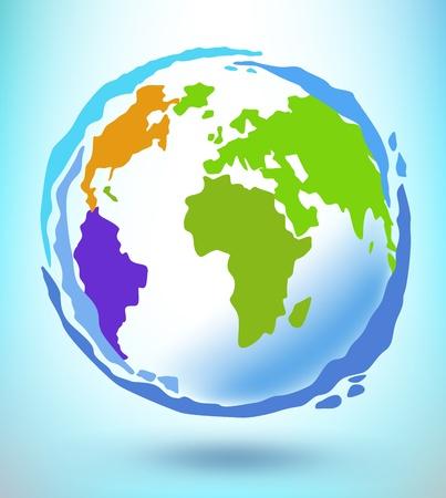 Globe concept. Vector