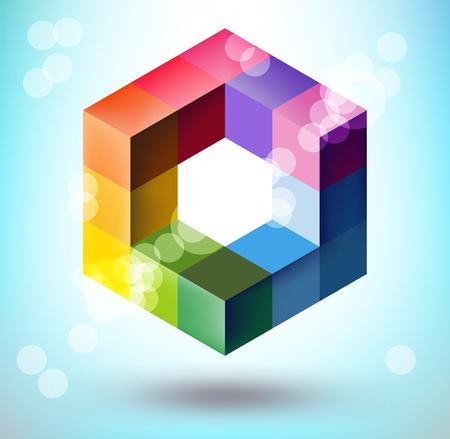 poligonos: Forma poligonal 3D Vectores