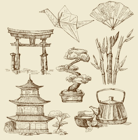 ancient philosophy: japan design elements