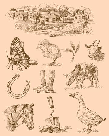 herradura: granja de colección hechos a mano dibujo