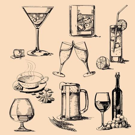 pić stos Ilustracje wektorowe