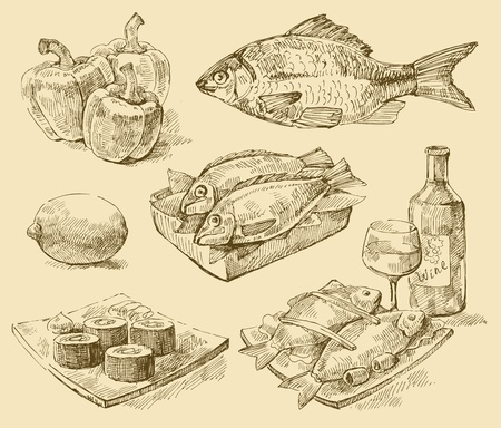vecteur de fruits de mer