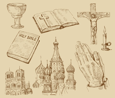 religion-hand drawn collection Vector