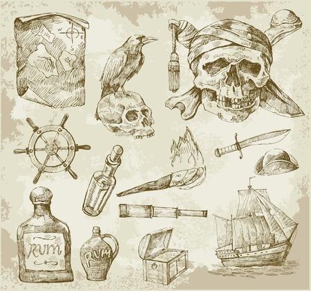 corvo imperiale: pirata di raccolta Vettoriali