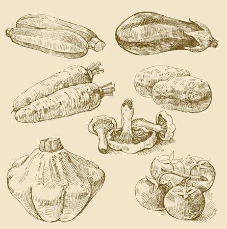 trekken: groenten te stellen Stock Illustratie