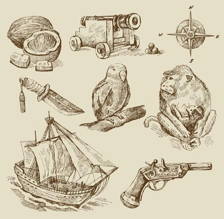 capitano: collezione nautica Vettoriali