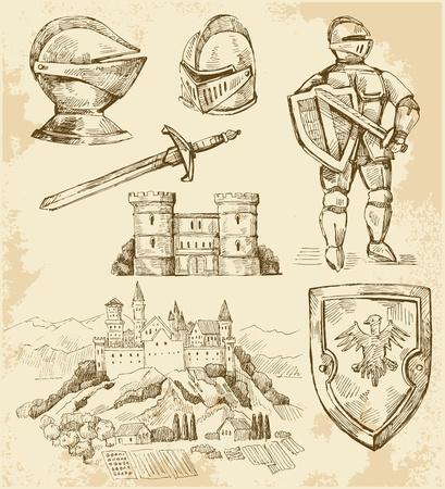 espadas medievales: colección medieval Vectores