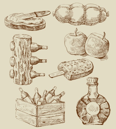 postre: alimentos serie Vectores