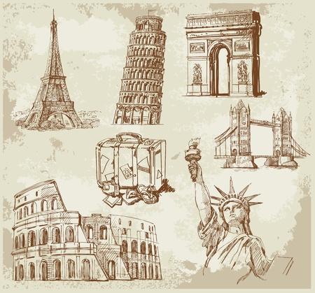 Travel background Stock Vector - 12900073
