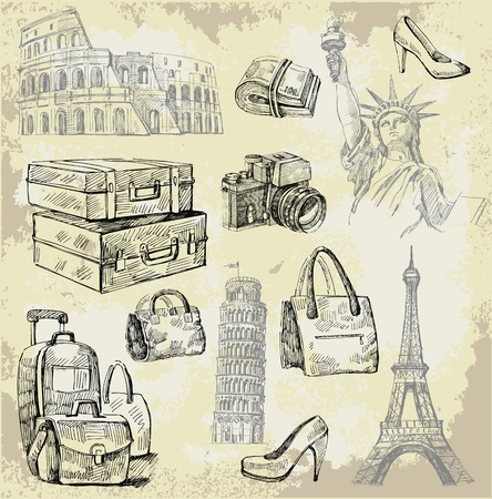 suitcases: travel background