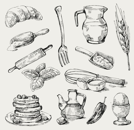 food set Illustration