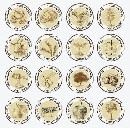 melker: symbolen van natuurlijke producten