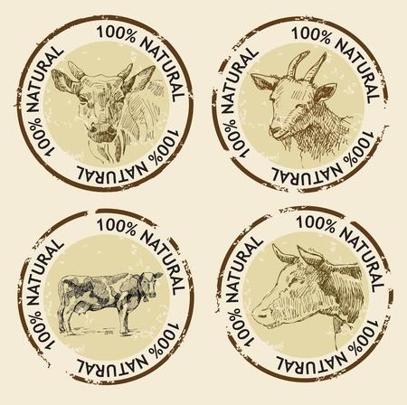 ch�vres: symboles de produits naturels