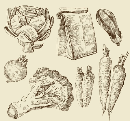 artichoke: food set Illustration