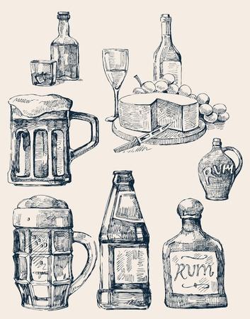 brandy: drink stack Illustration