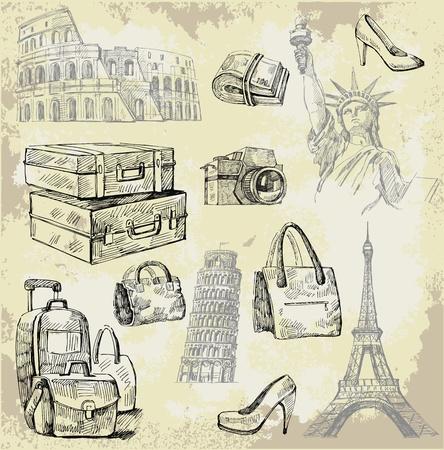 vintage paris: travel background