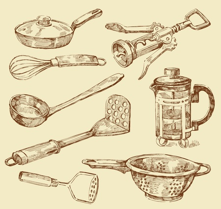 grater: cooking doodles Illustration
