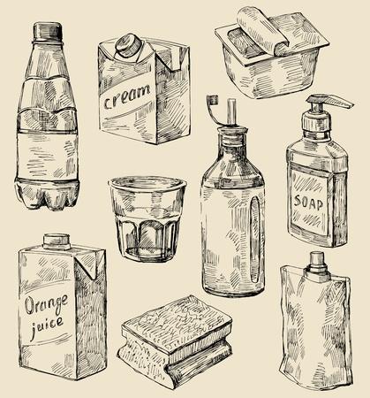 sponge: hand drawn kitchen set