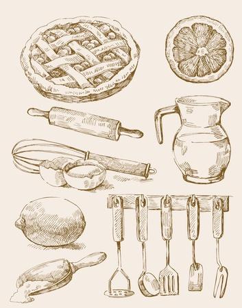 cocina antigua: la cocina de fondo