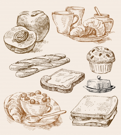 sandwiches: kitchen background Illustration