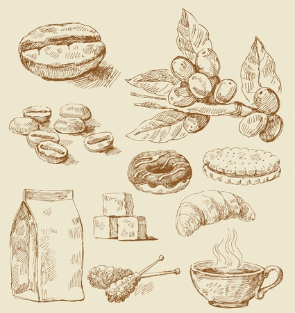 biscuits: freehand stroke vector illustration
