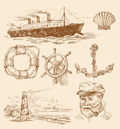 nautical set Vector