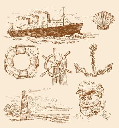 tall ship: nautical set