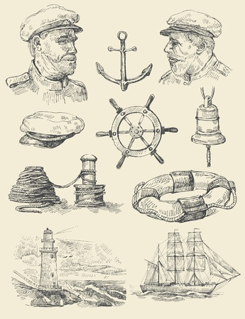 nautical set Stock Vector - 13098681