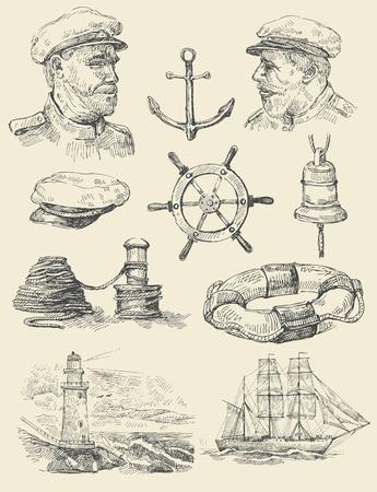 nautical set Stock Vector - 13098681