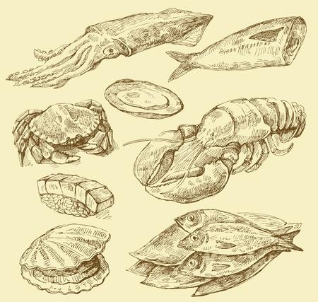 calamar: set de cocina