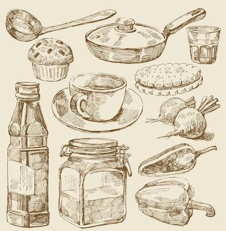 kitchen set Stock Vector - 13180679