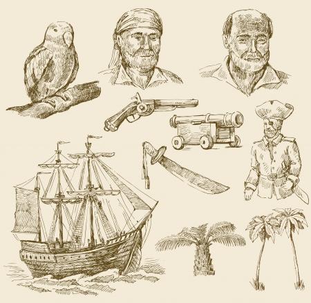 drapeau pirate: pirates mis en