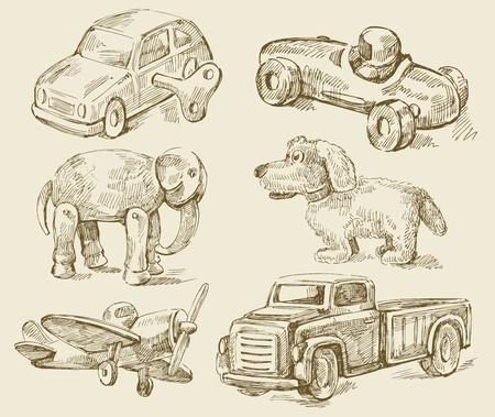 toy shop: antique toys