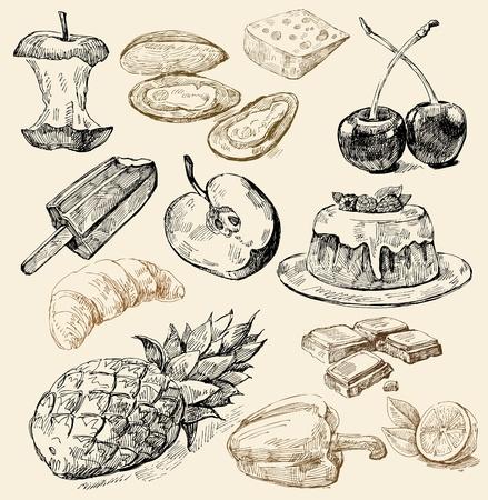 cheese cake: seamless pattern-hand drawn Illustration