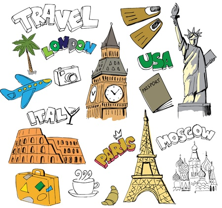 Travel background Stock Vector - 13515828